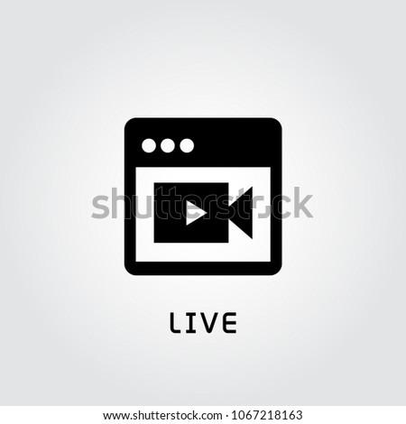 web video camera live icon
