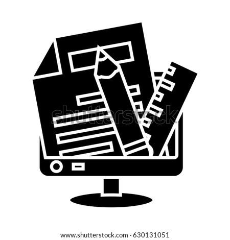 web writing tools icon
