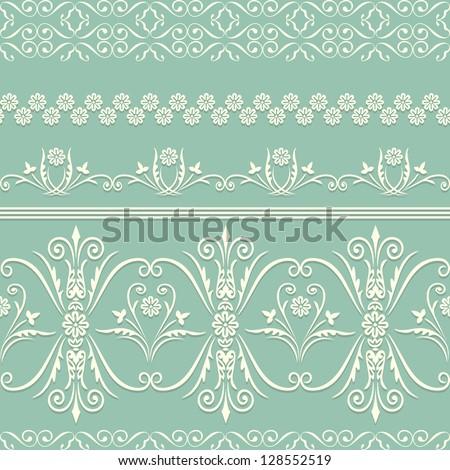 webbing  lace  border seamless