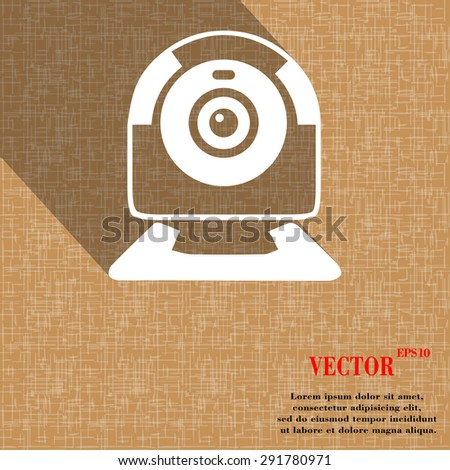 webcam icon symbol on abstract