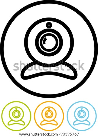 Webcam - Vector icon isolated on white