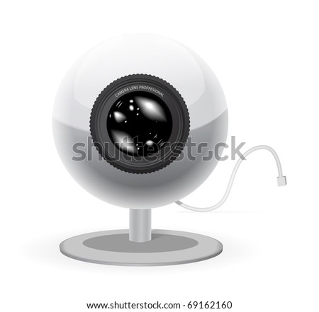Webcam vector illustration isolated on white background