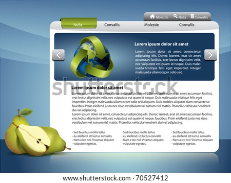 Webdesign template - Healthy life