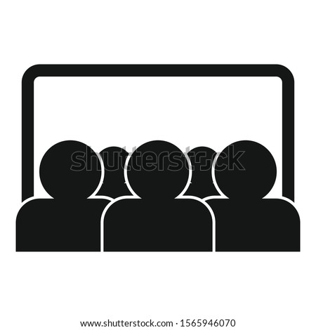 Webinar audience icon. Simple illustration of webinar audience vector icon for web design isolated on white background