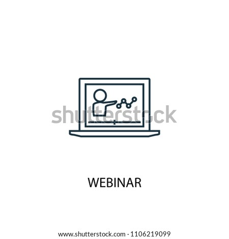 Webinar icon. Simple element illustration. Webinar symbol design from eLearning collection. Can be used in web and mobile.
