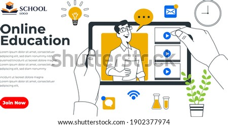 Webinar,Online Education Social Media Design for Business, Education purpose- modern simple colorful vector design template-layout-easy to edit-isometric cartoon characters-online workshop