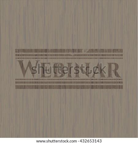 Webinar vintage wood emblem