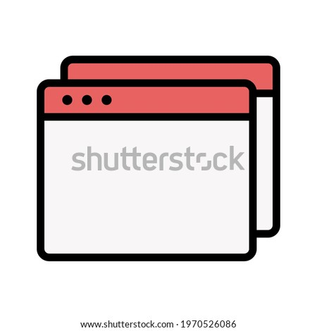 Webpage, duplicate, browser icon vector image. Can also be used for Webpages. Suitable for use on web apps, mobile apps and print media.