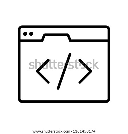 Webpage html code, css style concept line icon. Simple element illustration. Can be used for web and mobile UI/UX