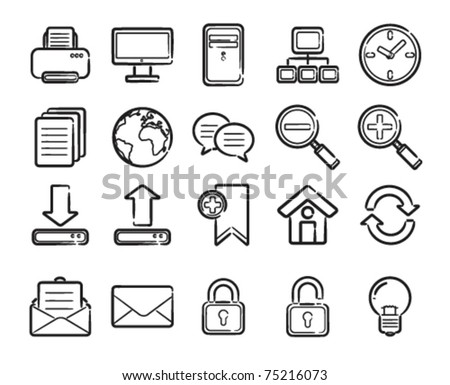 website and computer icons