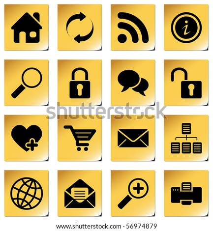 Website and internet icons for your products and designs
