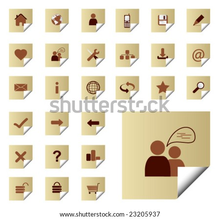 Website and Internet Icons, vector illustration