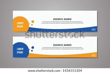 Website banner template design,modern template design, simple modern business banner template