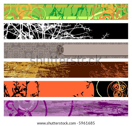 website banner sizes. stock vector : website banners