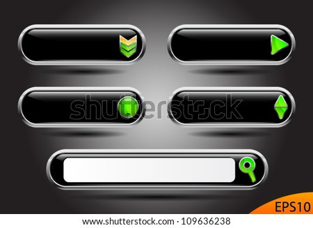 Website black buttons