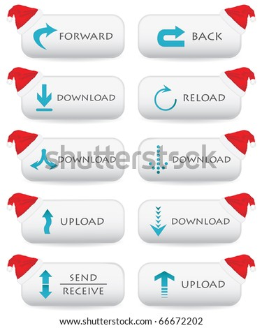 Website buttons - Christmas edition