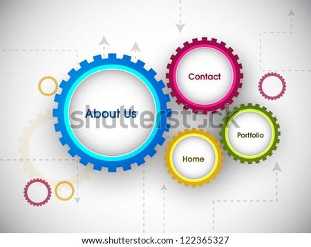 Website design draft.  EPS 10. - stock vector