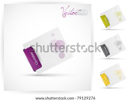 Website design element, Vector EPS10.