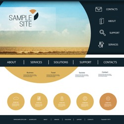 Website Design for Your Business with Beach Image Background