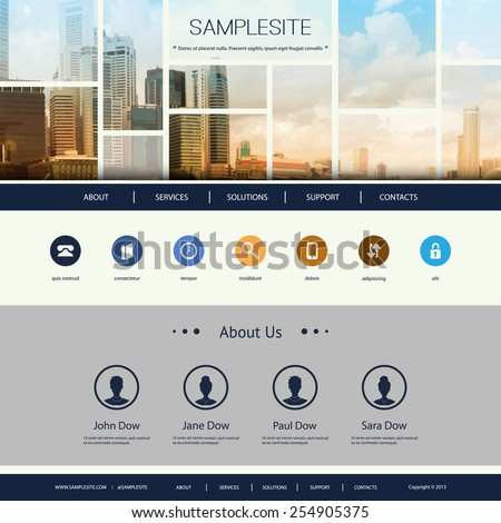 Website Design for Your Business with Singapore Skyline