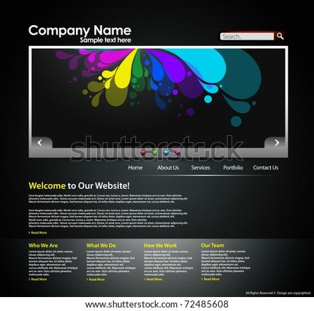 Website design layout business internet template, editable Vector illustration.
