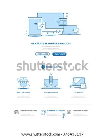 website design model templates
