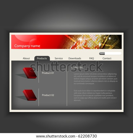 Website design template.Easy to edit.Vector illustration.