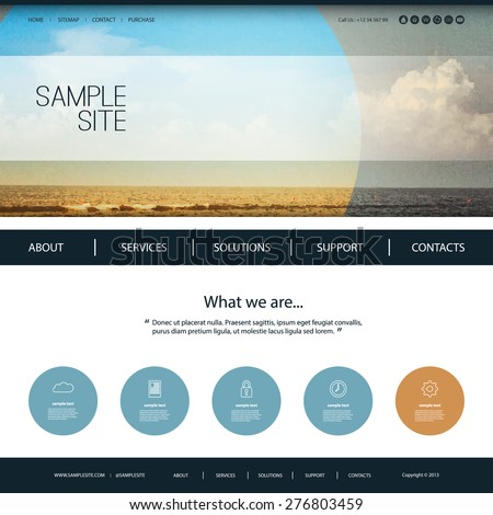 website design template for