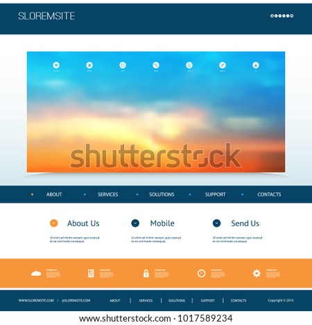 website design template for