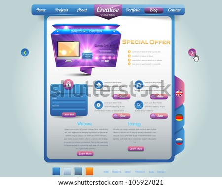 Website design vector elements - stock vector