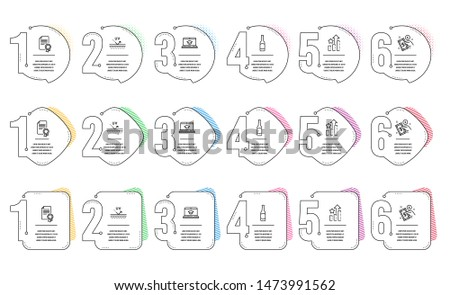 Website education, Payment method and Certificate line icons set. Infographic timeline. Uv protection, Ranking stars and Beer signs. Video learning, Give money, Diploma. Skin cream. Vector