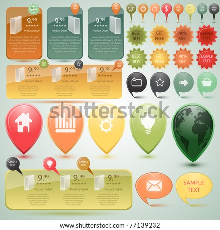Website Elements, vector