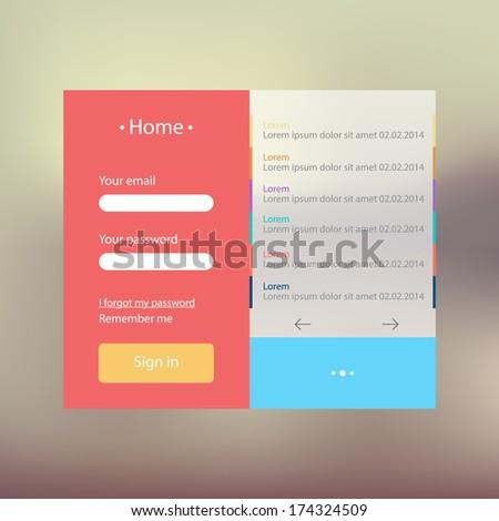 Website flat template design #174324509
