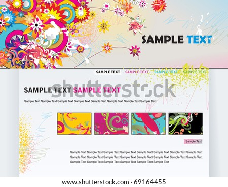 website floral vector template