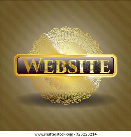 Website gold badge or emblem