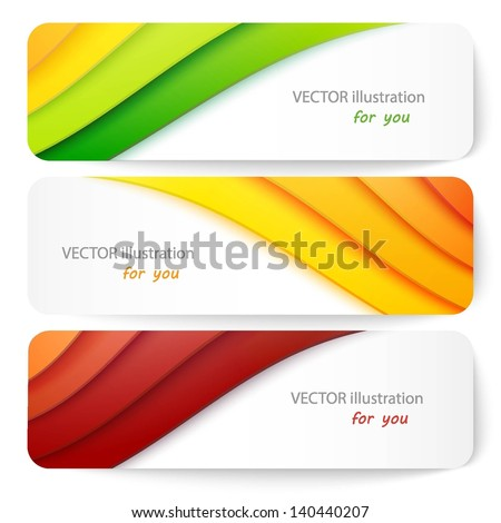 Website header or banner set. Vector illustration for your business presentations. EPS10.