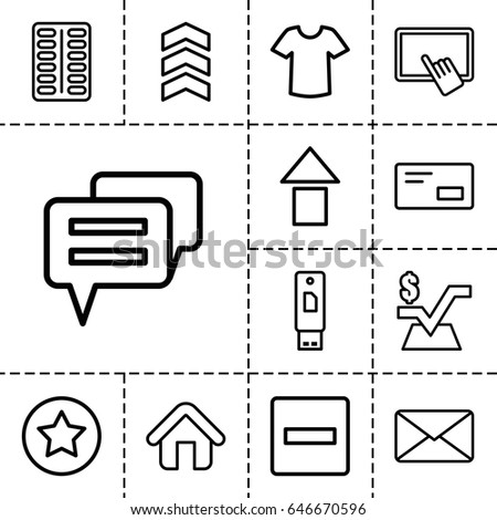 website icon set of 13 outline