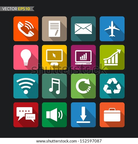 Website icons collection vector set 3
