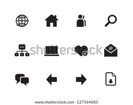 Website icons on white background. Vector illustration.