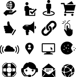 Website, Internet and software icon set