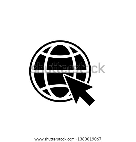 website, internet, go to web icon vector