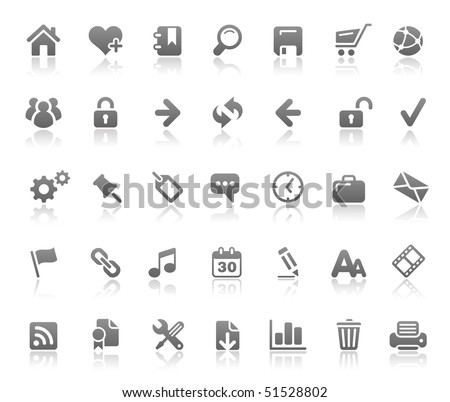 Website & Internet Icons // Basics Series - stock vector