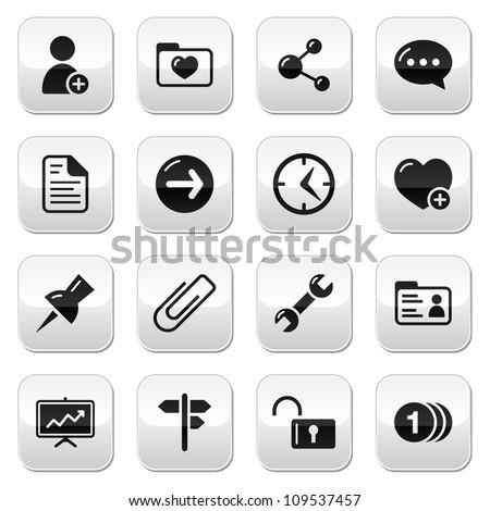 Website navigation buttons set