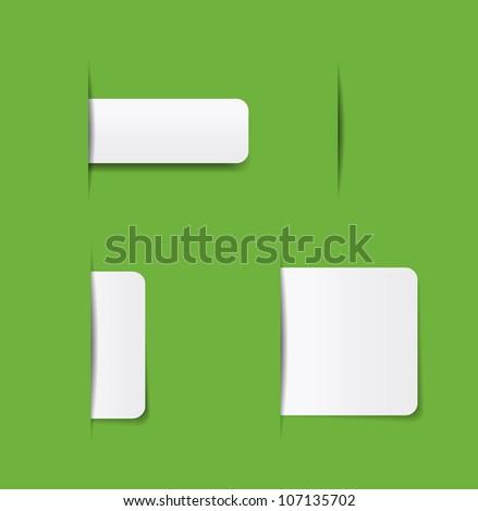 website navigation tabs, eps10 format for easy editing.