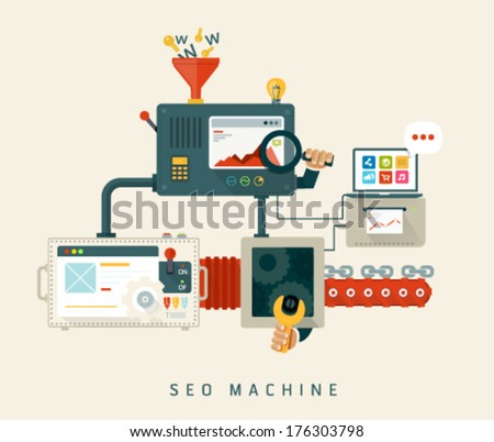 website seo machine  process of