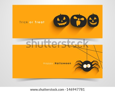 website spooky header or banner