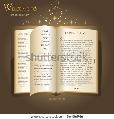 Website Template. Antique Book Stock Vector Illustration 56406946 ...: www.shutterstock.com/pic-56406946/stock-vector-website-template...