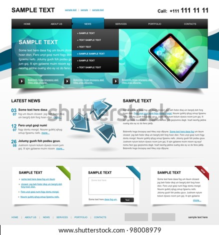 Website Template 4. Color variant 1