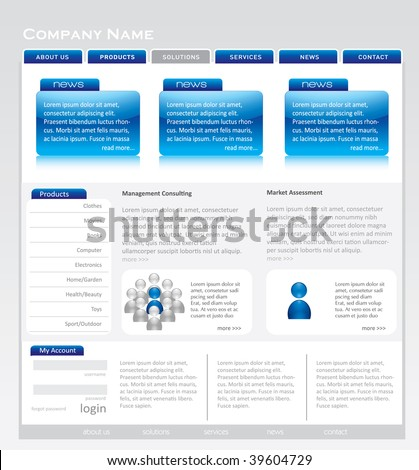 Website template. Editable