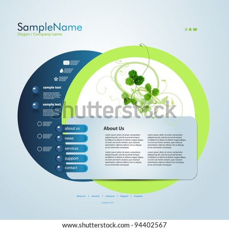 Website template, editable vector EPS 10